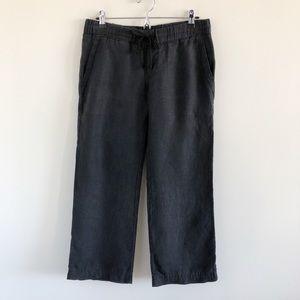 James Perse 100% Linen Black Wide Leg Pants 1 / S
